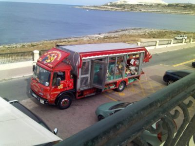Colorful truck in Malta
